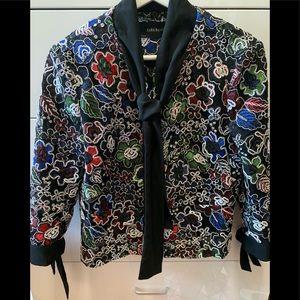 zara basic embroidered jacket (matching skirt Av)